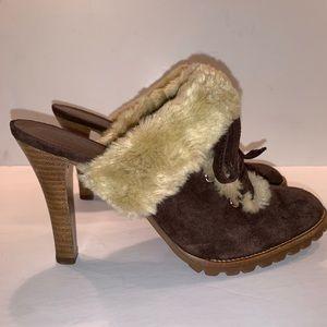 GIANNI BINI size 8 Suede clog heels EXCELLENT!